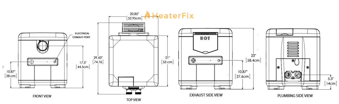 mastertemp-125-pool-spa-heater-dimensions