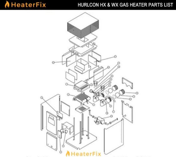Hurlcon HX Gas Heater Parts List
